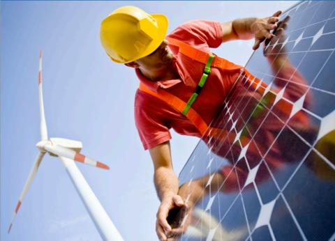 Wind Solar Worker