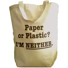 Plastic bag banning reusable bag pic